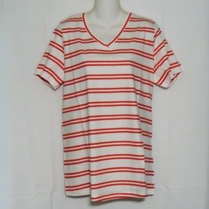 Woman Within Shirt Size Large Red White new